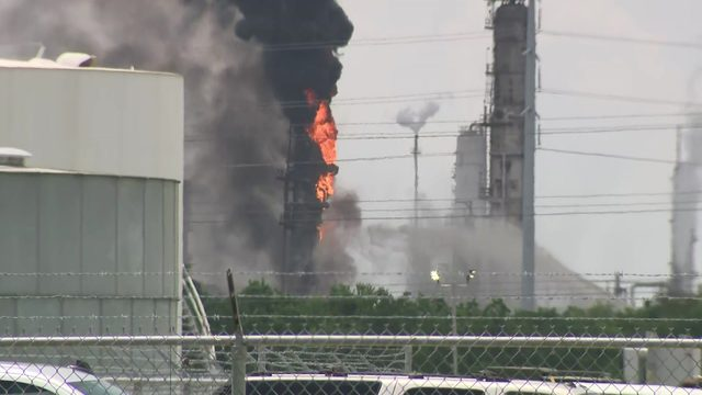 What is polypropylene, the chemical burning at ExxonMobil Baytown?