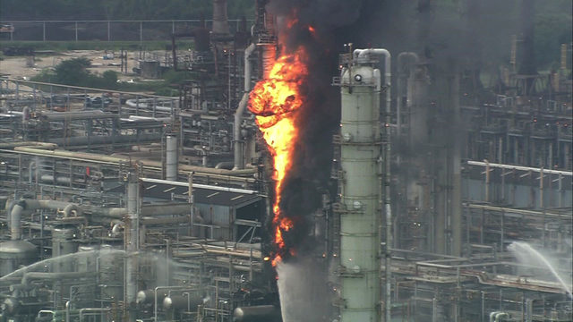 Fire contained at ExxonMobil plant in Baytown; 37 injured in blast