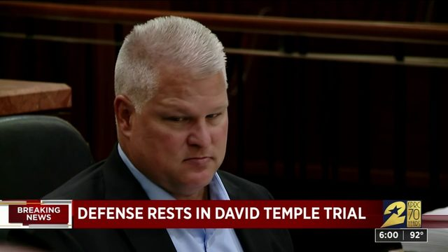 Defense rests in David Temple trial