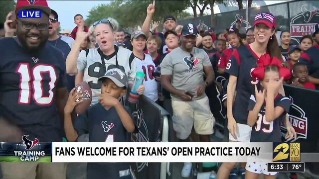 Texans training camp first open practice