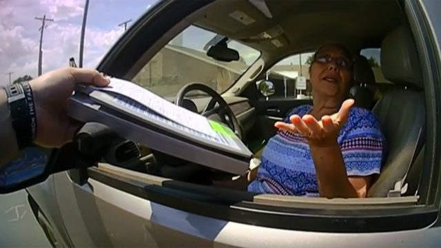 Traffic stop ends with woman's arrest