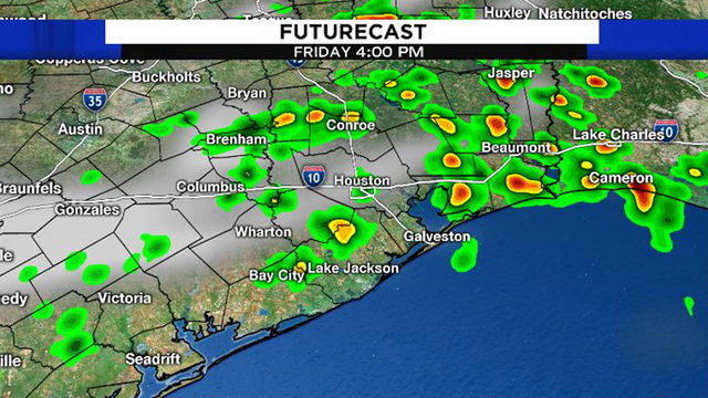 Scattered storms expected this weekend in Houston