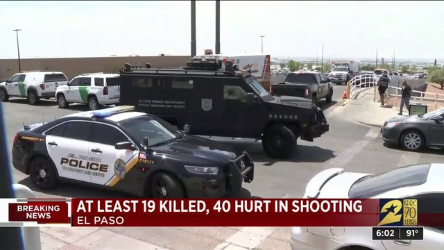 At least 19 killed, 40 hurt in shooting