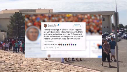 President Donald Trump, politicians react to deadly mass shooting in El Paso