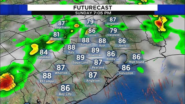 Another hot, stormy day expected in Houston on Sunday