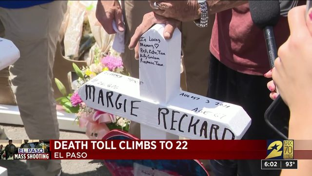 Death doll climbs to 22 in El Paso shooting