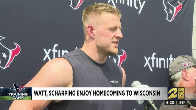 Watt Scharping enjoy homecoming to Wisconsin