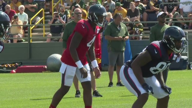 Camp Texans in Green Bay: Fight breaks out after Deshaun Watson gets hit