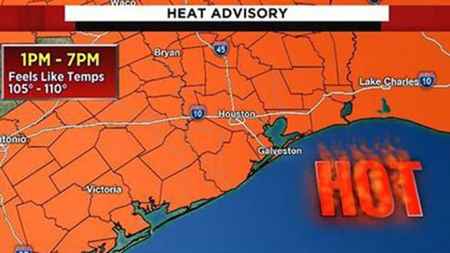 Heat advisory issued for Houston region as temps near 100 degrees expected