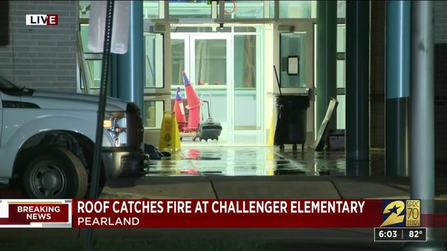 Fire at elementary school
