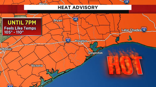 Houston hits 100 degrees for first time this year as heat advisory extended