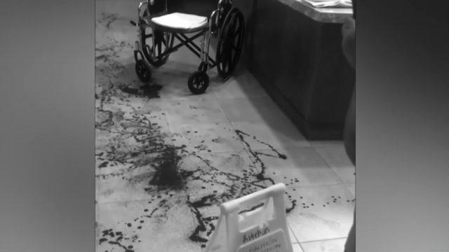 Disturbing conditions inside hospital ER waiting room