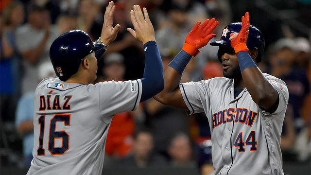 Alvarez hits three homers in Astros 23-2 rout of Orioles