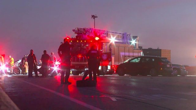 Driver flees on foot after causing multivehicle crash on North Freeway,…