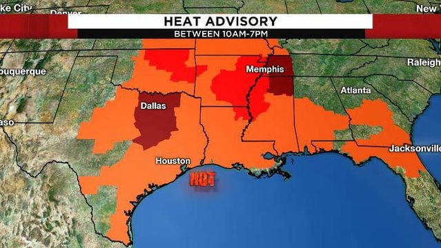 Heat advisory returns Sunday as triple-digit temps expected