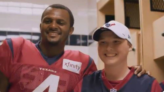 Deshaun Watson, Texans help make dream come true for teen battling leukemia