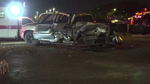 3 killed when speeding SUV strikes truck on SW Freeway feeder road, police say