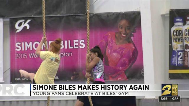 Simone Biles makes history again