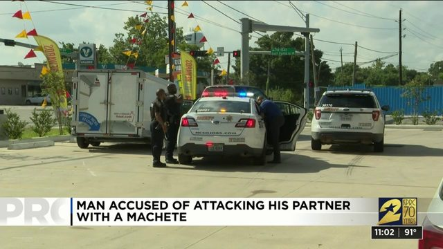 Man attacks partner in crime with machete near Crosby, sheriff says