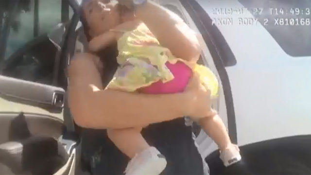 VIDEO: 10-month-old rescued from hot car as terrified mother watches