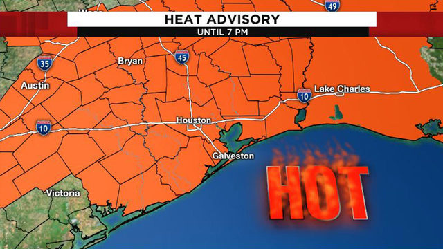 Heat advisory continues as triple-digit heat in Houston begins to ease