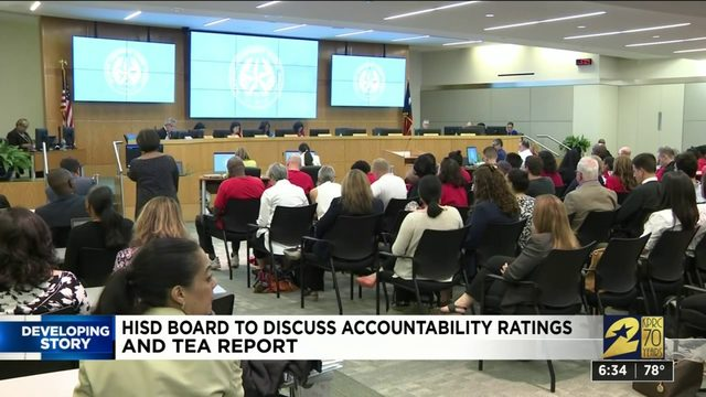 HISD board to discuss accountability ratings and TEA report