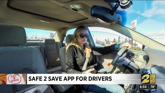 Safe 2 Save app for drivers