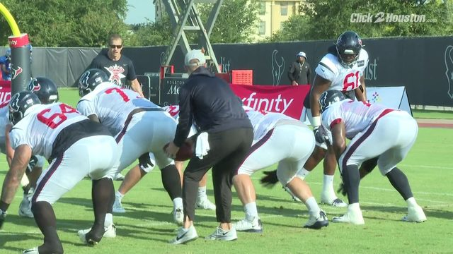Texans offensive line focused on versatility, improvement