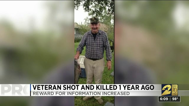 Veteran shot and killed 1 year ago