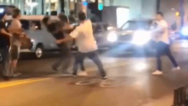 VIDEO: Skateboarder bashes man across the face