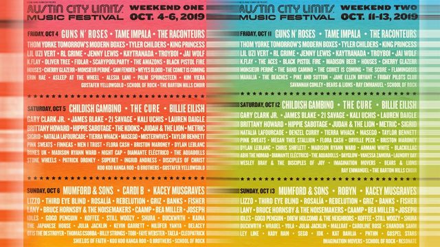 ACL's daily lineup is out and you won't want to miss this festival