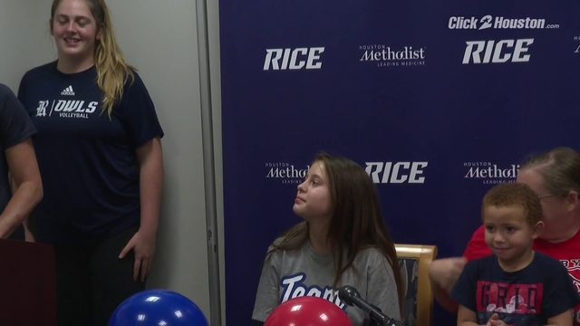 Rice volleyball welcomes new team member
