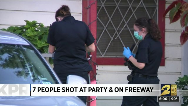 7 People Shot at Party and on Freeway