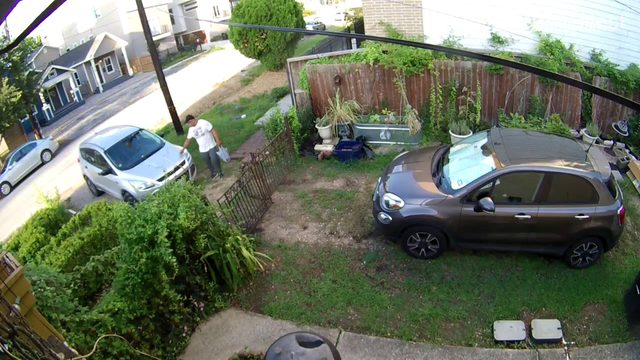Nest camera catches man keying neighbor's car