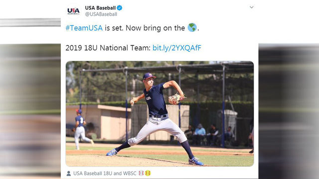 Catcher from The Woodlands joins elite national baseball team