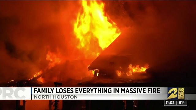 Family loses everything in massive fire
