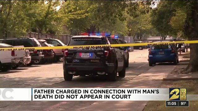 Father charged in connection with man's death does not appear in court