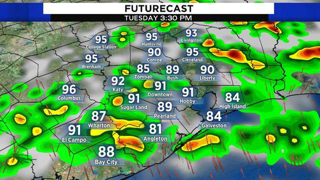 More scattered storms expected Tuesday