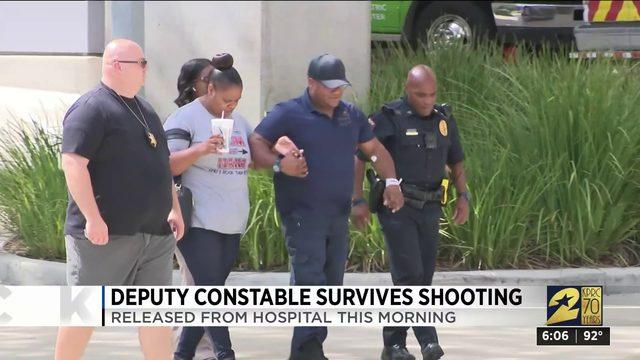 Deputy constable survives shooting