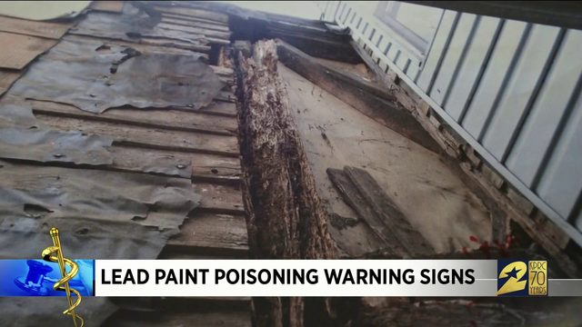 Lead paint poisoning warning signs