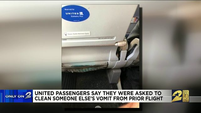 United passengers say they were asked to clean someone else's vomit from…