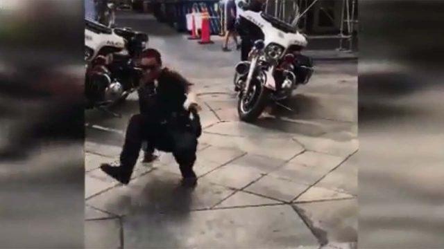 Denver cop breakdances with 7-year-old boy