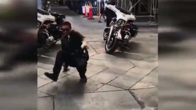 AMAZING BREAK DANCING BATTLE: Police officer, boy show off their moves