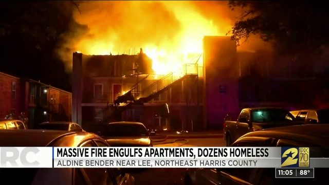 Massive fire engulfs apartments