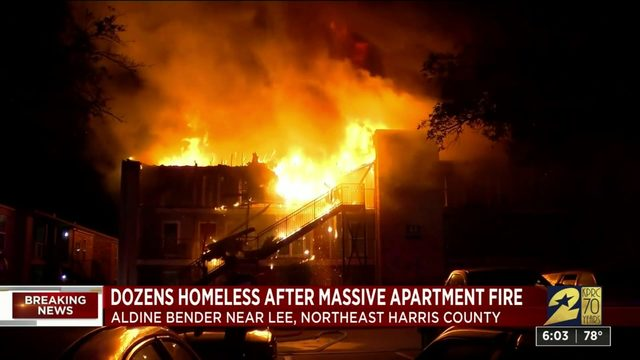 Massive fire leaves dozens homeless