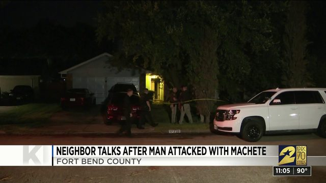 Neighbor talks after man attacked with machete