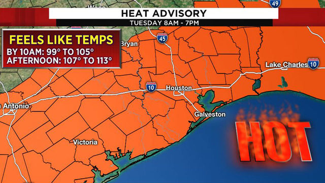 Heat advisory continues for Houston area