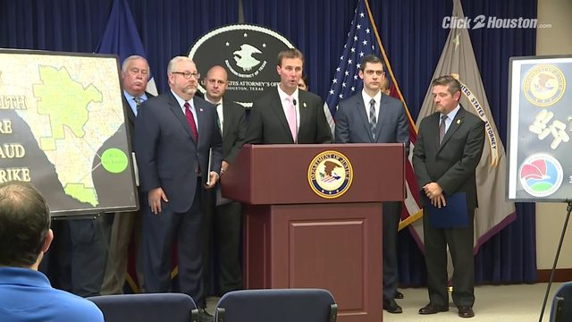 Feds discuss arrests in Houston-based pill mills investigation