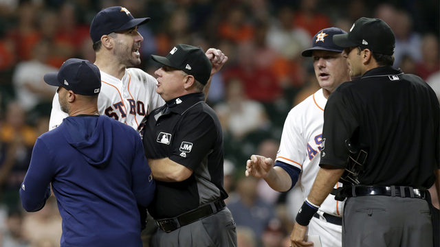 Verlander ejected following heated argument with umpire