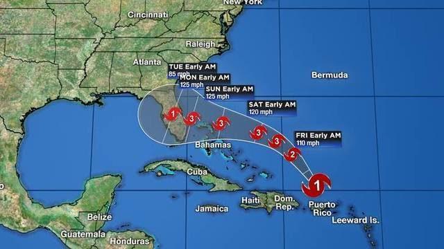 Hurricane Dorian heads for Florida after brushing Caribbean islands